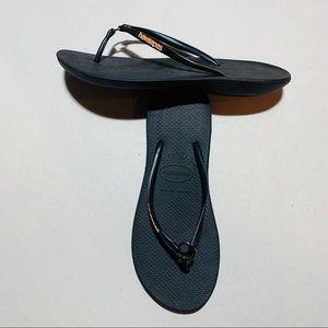 2 for $20: Havaianas black flip flop